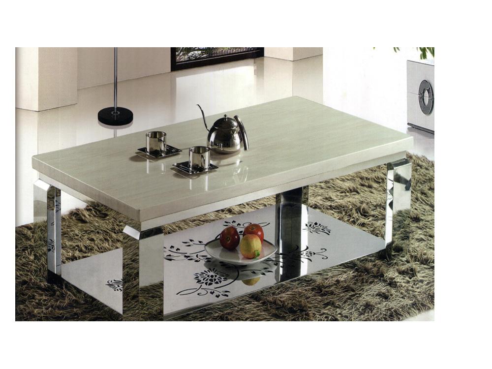 bộ bàn trà khung chữ nhật bằng đá