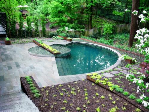 Bể bơi cho sân vườn nhỏ thêm đẹp