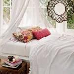 Phòng ngủ xanh mát cho ngày hè