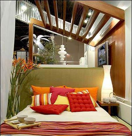 Có nên đặt giường ngủ, bàn làm việc dưới xà nhà?2