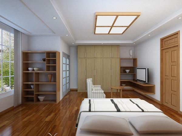 Mộc mạc, tự nhiên với sàn gỗ cho phòng ngủ1