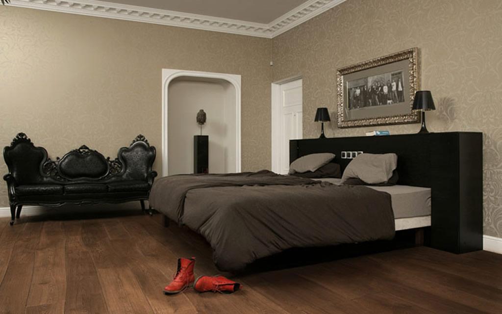 Mộc mạc, tự nhiên với sàn gỗ cho phòng ngủ5