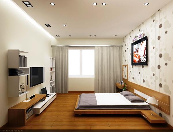 Mộc mạc, tự nhiên với sàn gỗ cho phòng ngủ6