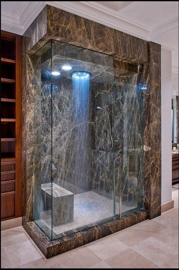 """Ngắm những phòng tắm """"nổi bần bật"""" với vòi sen hiện đại5"""