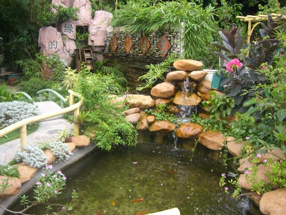 Nghệ thuật trang trí tiểu cảnh đá cho sân vườn1