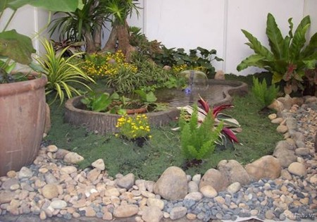 Nghệ thuật trang trí tiểu cảnh đá cho sân vườn2